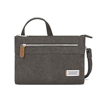 Travelon Women s Anti-Theft Heritage Small Crossbody Cross Body Bag Pewter One Size - 33226 540