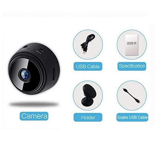 Mini Kamera, MASALING 1080P HD Kleine Überwachungskamera Lange Batterielaufzeit Videoanrufkamera Nanny Sicherheitskamera für Innen Aussen mit Bewegungserfassung und Infrarot Nachtsicht, Fernzugriff
