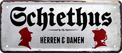 Schiethus 1239 Plaque en tôle décorative pour toilettes homme et femme 28 x 12 cm