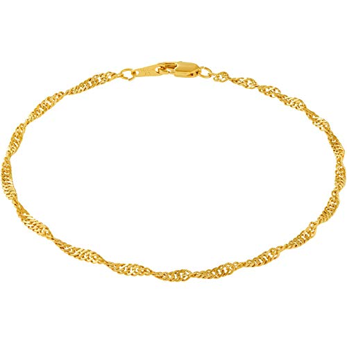 LIFETIME JEWELRY Anklets for Women and Teen Girls - Whisper Chain Gold Ankle Bracelet - 20X More 24k Plating Than Other Foot Jewelry for Beach or Party (10.0, Yellow-Gold-Plated-Base)