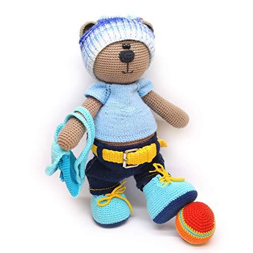El Oso Tony. Osito de ganchillo - Crochet, amigurumi para niños