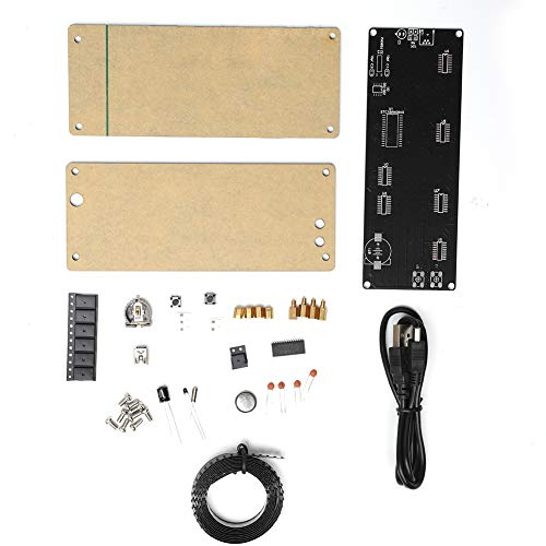 Ymiko Digital Clock Kits LED 5V DIY Alarm Clock Kit Dots Module with Temperature Prompt