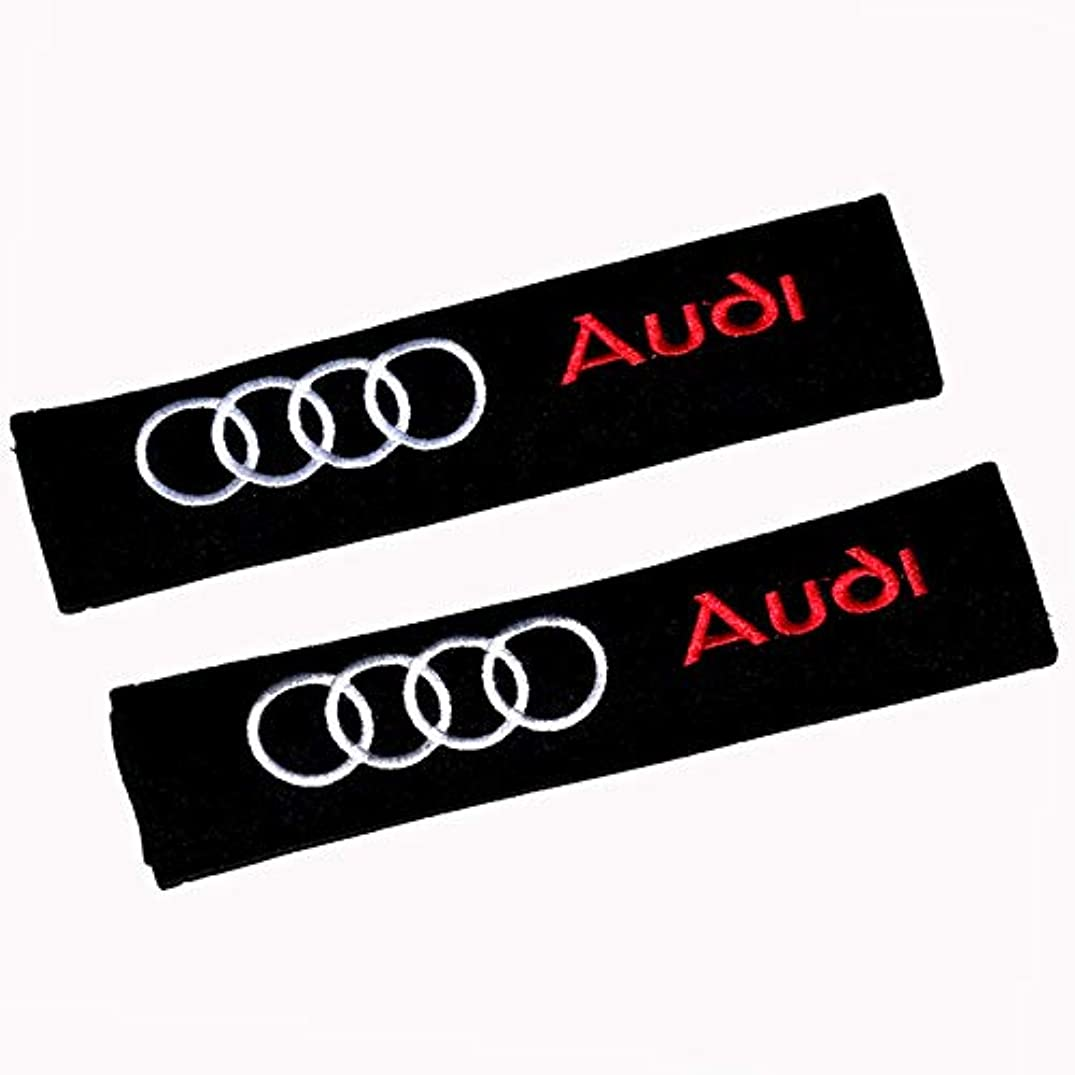 ffomo Bearfire 1 Pair of Car Brand Auto Seat Belt Shoulder Pads Strap Covers Cushion (fit Audi)