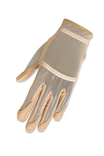 HJ Glove Solaire Golfhandschuh für Damen, lang, für Linke Hand, Beige