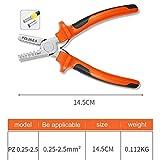 strety Crimpzangen Crimping Tool Abisolierzange Unisolierte Aderendhülsenzange 0.25mm²-2.5mm² Crimpwerkzeug Spannhülsen