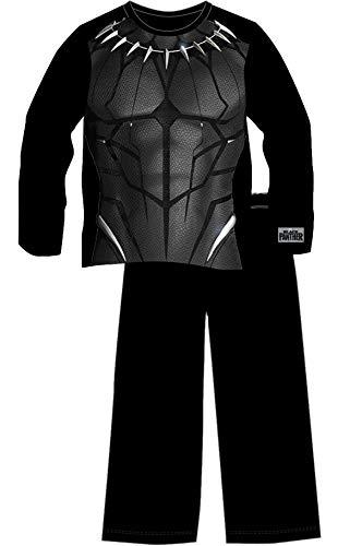 Marvel- Black Panther Schlafanzug für Jungen | Superhelden-Kostüm mit Logo | Langarm-Oberteil & Hose | Zum Schlafen & für daheim | Avengers Merchandise | Aus Baumwolle (11/12 Jahre)