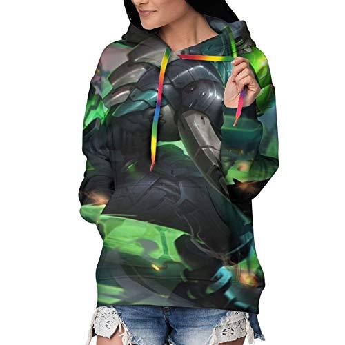 Ekko - Sudadera con capucha para mujer, de terciopelo, casual, forro polar, con capucha