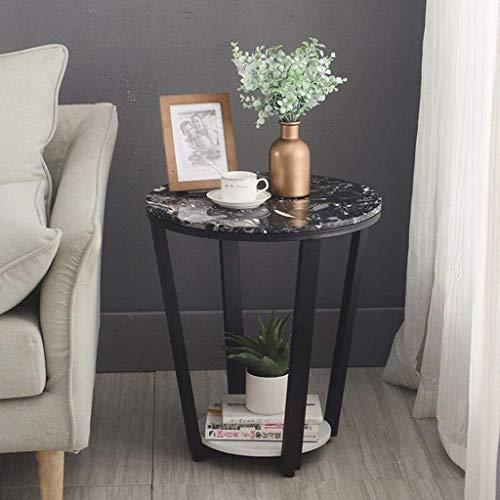 NSYNSY Sedia Tavolino Tavolini rotondi Tavolino in marmo con gambe in Metallo Tavolino Moderno per Snack da salotto, 50 * 58 cm (Colore: E)
