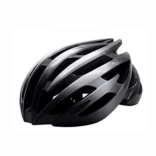 LXJ Casco de ciclismo para hombre, cómodo, transpirable, casco de bicicleta de carretera, totalmente moldeado, color negro y azul