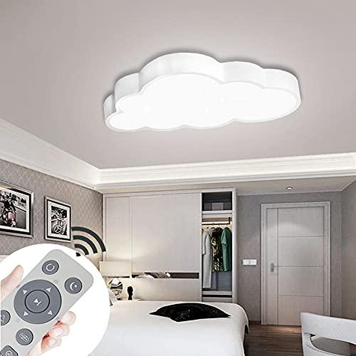 COOSNUG Lámpara de techo LED con forma de nube, 64 W, regulable, con mando a distancia, para dormitorio, lámpara ultradelgada, se puede utilizar en el salón, el comedor y el despacho.