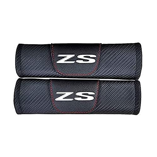 2 Piezas Almohadillas Protectoras Para CinturóN De Seguridad Coche Para MG ZS, Fibra De Carbono Almohadillas Proteccion Cubiertas Hombro Correa Antideslizante Accesorios Interiores