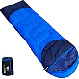 Outdoorsman Lab Sleeping Bag for Adults & Kids - All Seasons Warm & Cool Weather - Ultralight (2.9 Lbs),Compact & Portable Camping Gear - for Backpacking, Hiking & Travel - with Compression Sack