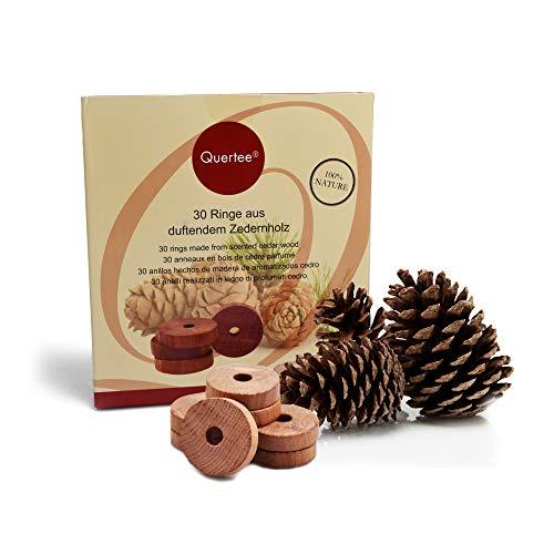 30x anelli di legno di cedro come protezione contro le tarme in vero legno di cedro - contro le tarme dei vestiti nel guardaroba - da Quertee