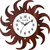 Dial Size: 14 Inches Diameter, Material of the frame: Wooden Material of the transparent face: Glass Suitable For: These wall clocks modern is suitable for hanging in your office, home, bed room, living room, dorm, lobby, patio and other corners of y...