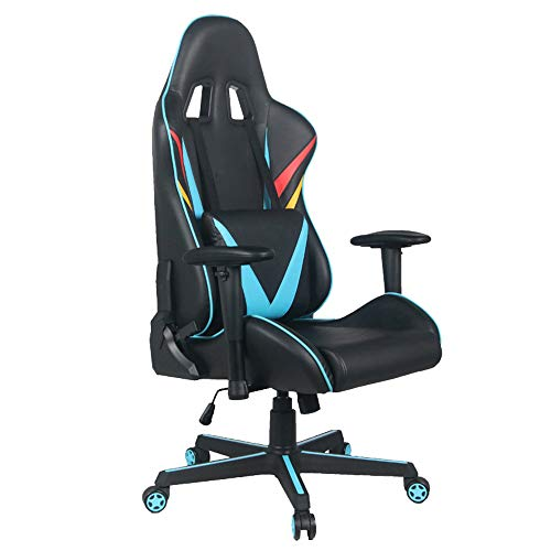 ALVEN High-back Racing Style Pc Chair, Ergonomic Gaming Chair with Lifting and Rotating Armrest/E-sports Leather Chair with Lumbar Support and Headrest