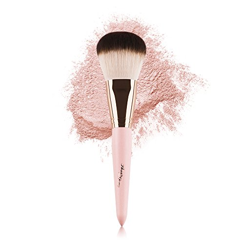 Anne's Giverny Kabuki Large Bronzer Brush Loose Powder Foundation Make up Brush for Blending Blush Makeup (Pink)