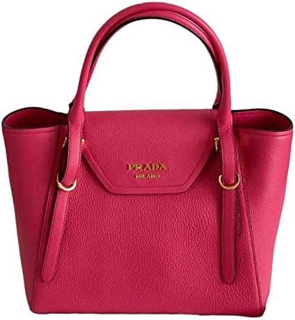Prada Vitello Grain Magenta Pink Top Handle Crossbody Handbag 1BA270 product image