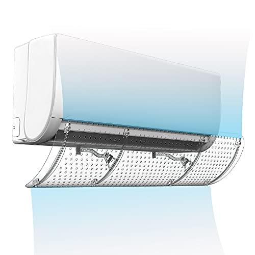 Deflettore invisibile del condizionatore d'aria ad alta trasparenza, deflettore generale del condizionatore d'aria del parabrezza del condizionatore d'aria trasparente anti-soffiaggio