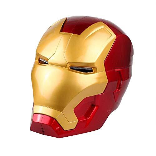 QYF Titan Iron Man del héroe de la electrónica de la máscara Los niños, Los Ojos Pueden Brillar, la máscara de superhéroe Avengers PVC