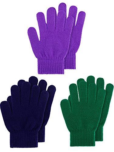 Kids Gloves Full Fingers Knitted...