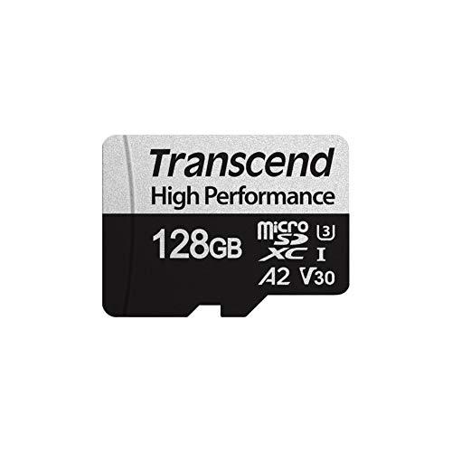 Transcend 128GB microSDXC 330S High Performance Memory Card / Speicherkarte TS128GUSD330S / bis zu 100 MBs lesen und 85 MBs schreiben