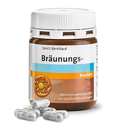 Sanct Bernhard Bräunungs-Kapseln, Nahrungsergänzungsmittel mit Carotinoiden und Kupfer, Inhalt 90 Kapseln