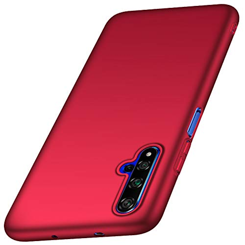 anccer Kompatibel mit Huawei Honor 20 Hülle, Huawei Nova 5T Hülle [Serie Matte] Elastische Schockabsorption & Ultra Thin Design für Huawei Honor 20 / Nova 5T (Glattes Rot)