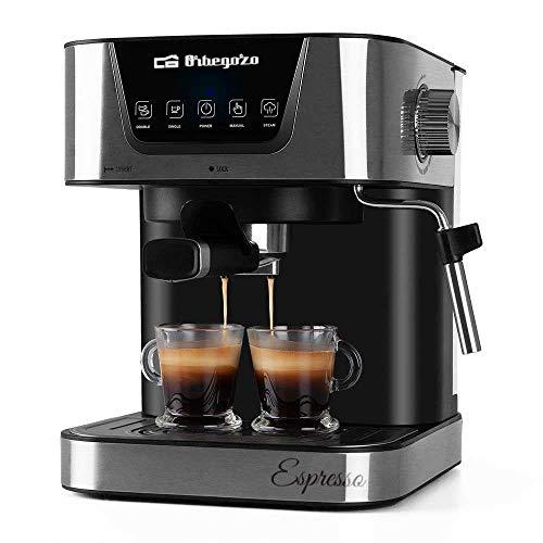ORBEGOZO 17535 Cafetera automática para Espresso y Cappuccino EX 6000, 2 Cups, Negro