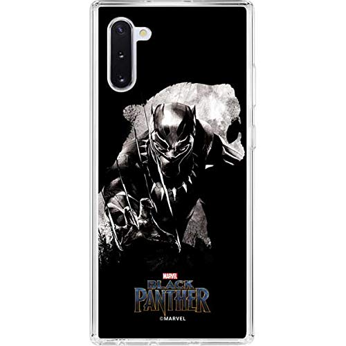 Skinit Clear Phone Case Compatible with Galaxy Note 10 - Officially Licensed Marvel/Disney Black Panther Up Close Design