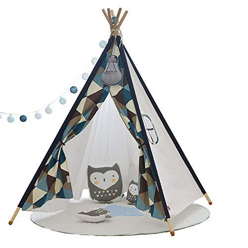 FHLH Kids Play Tent Children's Tent Tent Children's Indoor/Outdoor Children's Folding Tent Tent Indoor And Outdoor Games Home Decoration for Indoor Games (Color : Orange, Size : 110x110x155cm)