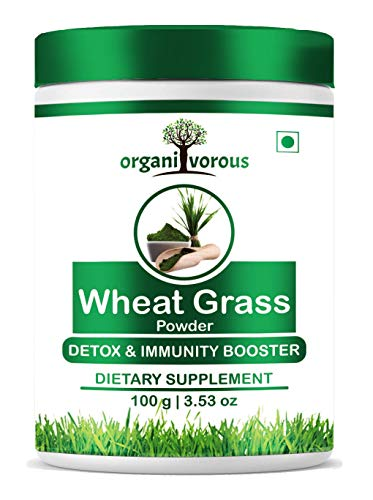 Organivorous Wheatgrass Powder | Immunity Booster, Weight Loss, Energy Booster, Detox, Antioxidant, Skin Health | Pure & Natural | For Men & Women |Pack of 1 | 100 grams