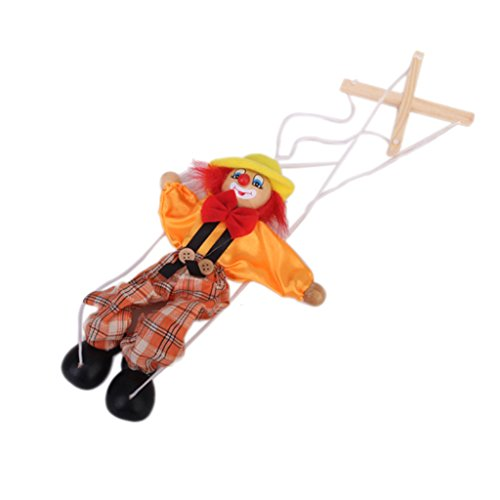 1pcs Hölzerne Marionette Clown Spielzeug Für Kinder