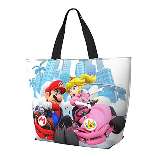Videojuego Héroes Mario Racing coche bolso de hombro multifuncional gran capacidad de la tableta Bolsas de semana bolsa de viaje bolsa de playa
