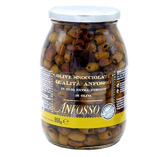 Entkernte Oliven Riviera in nativem Olivenöl 950 gr