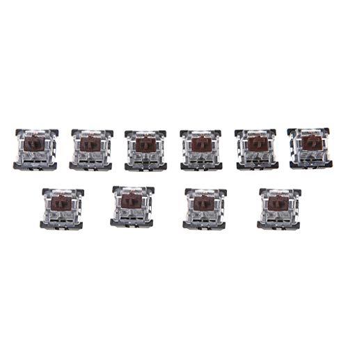 Xuebai 10Pcs 3 Pin KeyCaps Brown Tastiera Meccanica Switch per Cherry MX Tastiera Tastiere Meccaniche Marrone