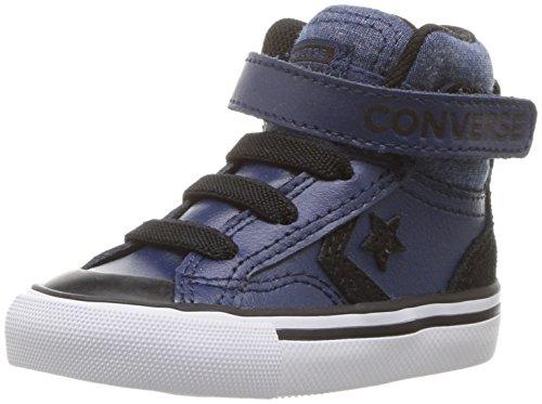 Converse Boys' PRO Blaze Strap HIGH TOP Sneaker, Slate Blue, 4 M US Toddler