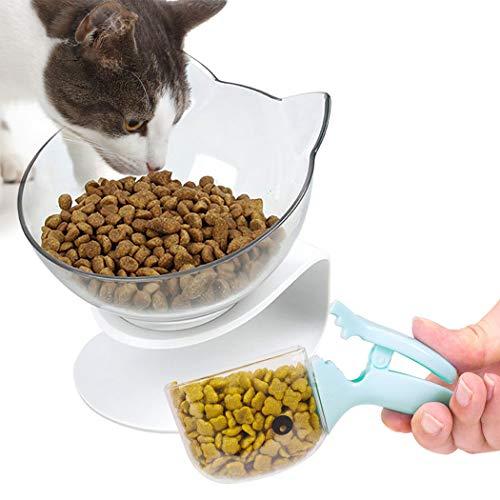 Bangcool Katzen-Futternapf, Haustier-Futternapf, Wassernapf für Katzen, um 15 ° neigbar, rutschfest, Futternapf für Katzen