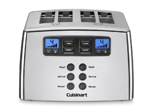 CuisinartタッチをトーストLeverlessトースター 4-Slice シルバー CPT440EH
