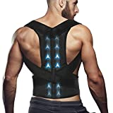 Comfort Posture Corrector Clavicle and Shoulder Support Back Brace, Upper and Lower Back