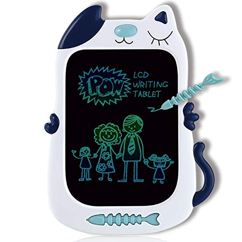GJZZ LCD Drawing Doodle Board for 3-7 Year Old Girls Gifts,Writing and Learning Scribble Board for Little Kids - Blue White