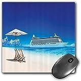 Mouse Pad Gaming Funcional Conjunto de playa Alfombrilla de ratón gruesa impermeable para escritorio Verano Playa Crucero Paseo en barco Turismo Transporte Tranquilo Imagen náutica al aire libre,Amari