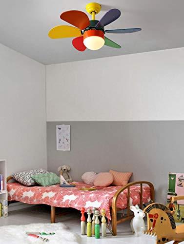 Plafondventilator met verlichting, slaapkamer, stil, woonkamer, plafondventilator, plafondlamp met dimmer voor afstandsbediening