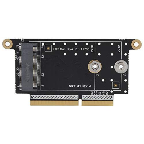 Annadue NGFF M.2 NVMe Key M 2230-2242 Convertidor de Piezas de Red para el Modelo OS X Pro A1708, Tarjeta adaptadora, cómodo de Usar y con Buen Rendimiento.