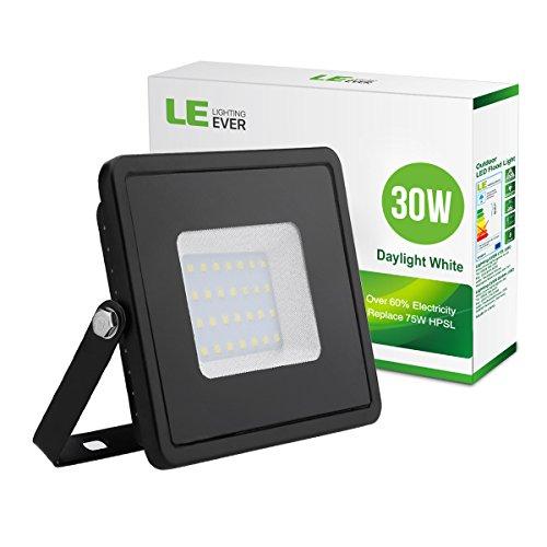 LE Faretto LED 30W Impermeabile, Luminosa Pari alla Luce HPS da 75W Bianca Calda 3000K