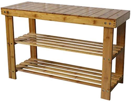 FF Bamboe schoenenrek montage 2 planken demontage woonkamer schoenenrek berging bank nachtkastje stofdichte hoge belasting ruimte - (45 cm 28 cm 70 cm)