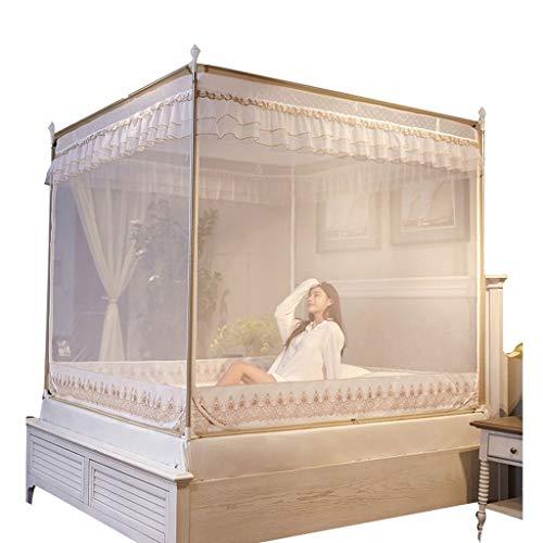 RJJX Home Accueil Chambre moustiquaire - lit avec 4 Coin Auvents, Lit à baldaquin Rideau, Enfants Lit Couvre-lit, décoration Chambre (Size : 2.0m(6.6ft))