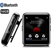 MP3 Player with Bluetooth, BENGJIE 16GB Portable Mp3 Player with FM Radio with Headphones,HiFi Metal Audio Player with Voice Recorder,Touch Button Music Player, Expandable 128GB TF Card,1.8 Inch