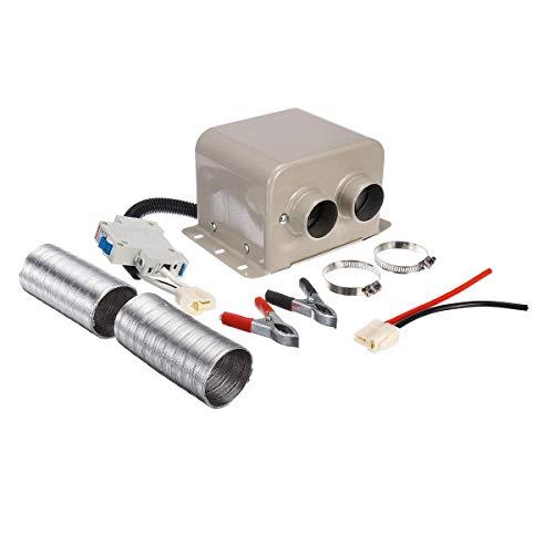 KTZAJO Descongelador de calentador de coche, 12 V, 24 V, 1200 W, 1500 W, 2 agujeros, calentador portátil para coche (color: 1200 W, tamaño: 24 V) (color: 1200 W, tamaño: 24 V)