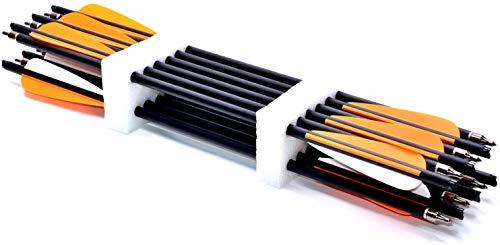 PMSM 12 x Armbrustpfeile 22 Zoll Carbon bolzen 20 Zoll armbrustbolzen 18 Zoll 8,8 MM für Compound Recurve (20 Zoll)