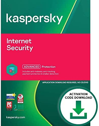 Kaspersky Internet Security 2021 PC Mac Android Activation Code by Email Download Antivirus product image